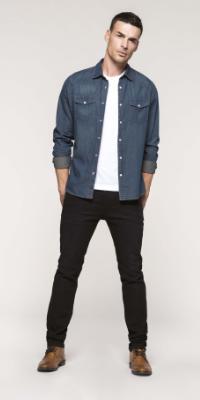 chemise pantalon jean denim