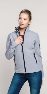 veste softshell femme poche chinée