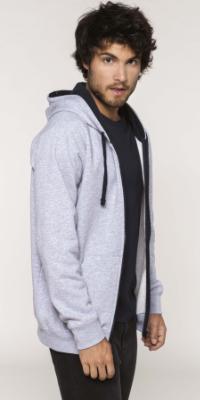 sweat capuche 2 tons hoodies