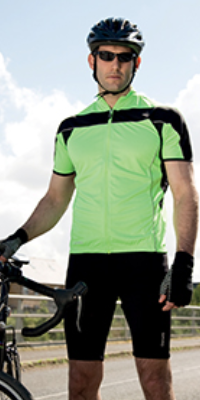 tenue cycliste short t shirt